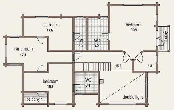 Проект дома flagman