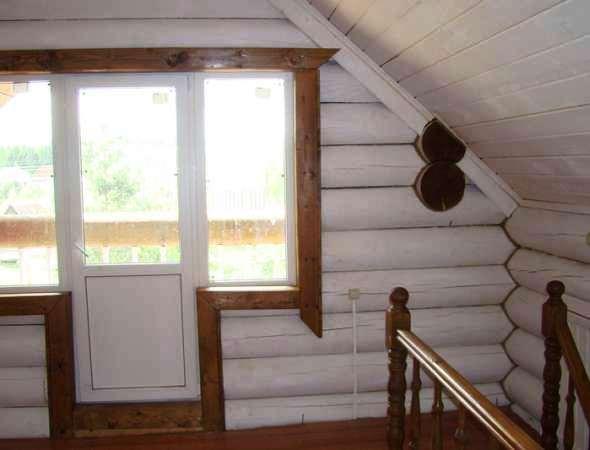 фотографии отделки деревянного дома