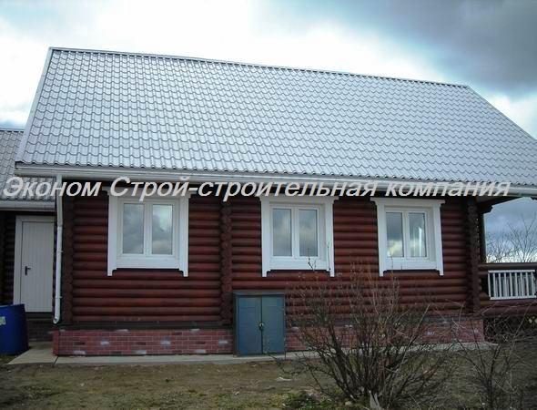 Деревянный дом из оцилиндрованного