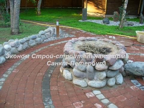 Мангал из камня на даче фото